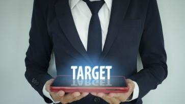 businessman holding tablet traget text , business concept , busi