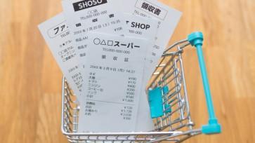 レシートと買い物カート