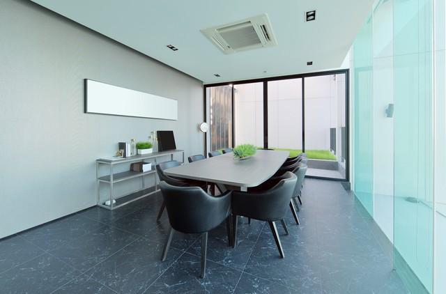 luxury modern meeting room interior and decoration, interior design